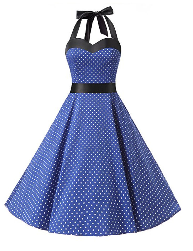 robe-vintage-a-pois-retro-cocktail